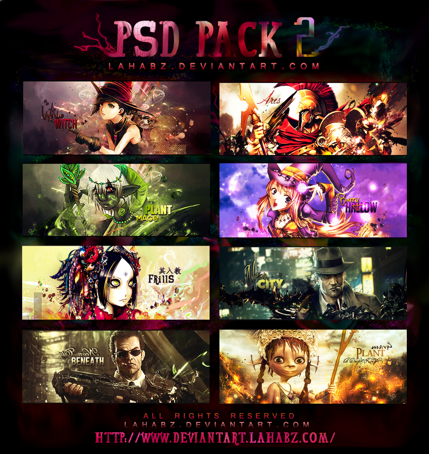 PSD SigS PaCK 2 by lahabz