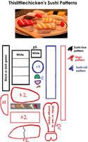 Nigiri Sushi Plush Patterns by thislittlechicken