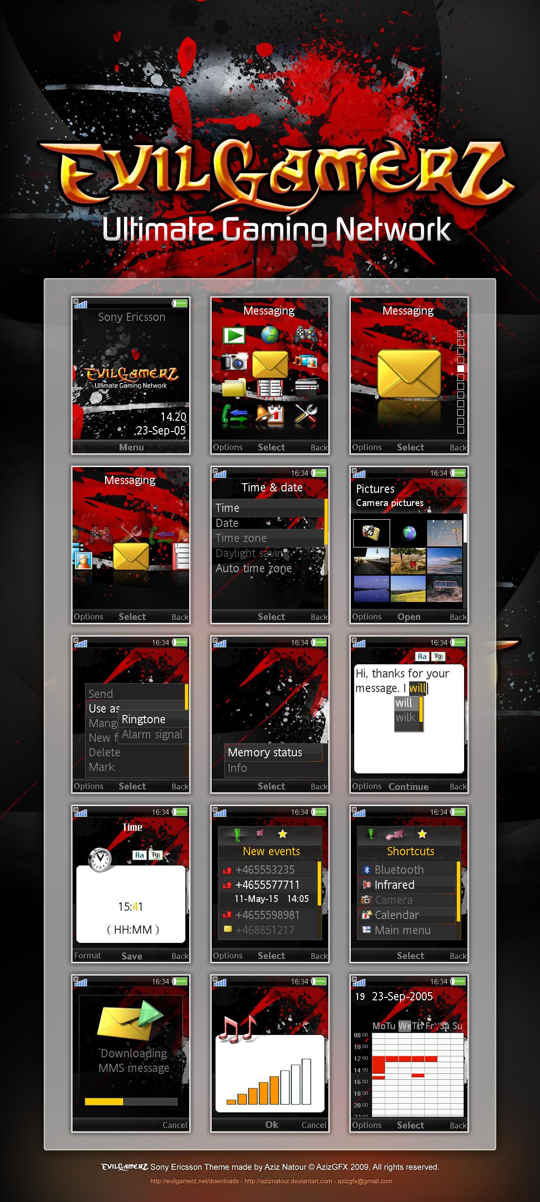 EvilGamerZ Sony Ericsson Theme by AzizNatour