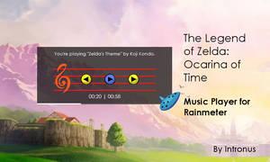 Legend of Zelda OoT Rainmeter Music Player by intronus