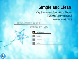 Simple and Clean - Kingdom Hearts Themed Rainmeter by intronus
