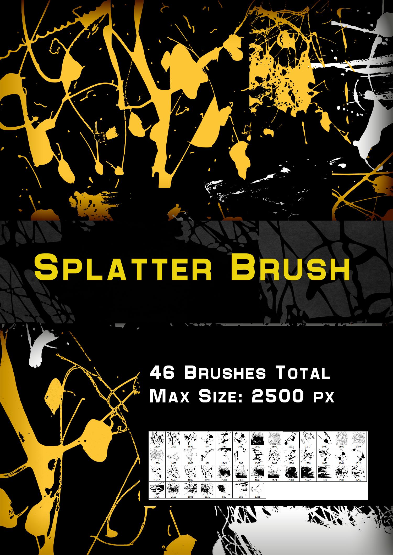 Splatter Brush by me by MartinSiilak