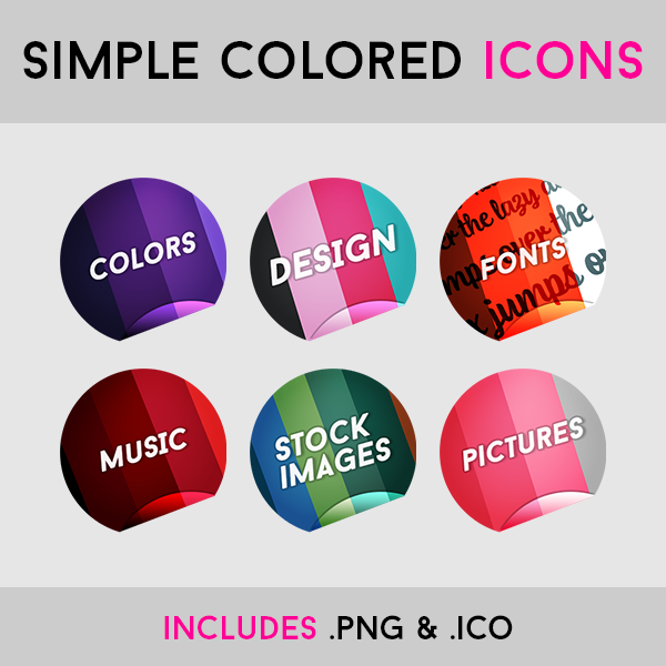 Colored Icons by MartinSiilak