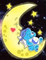 Bedtime Bear Sleeping by silverkitsune