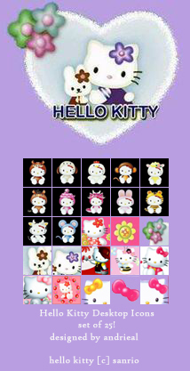 Hello Kitty Desktop Icons By Anjicle On Deviantart