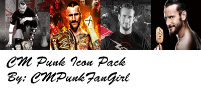 .:CM Punk Icon Pack:. by QuietFooding