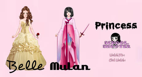 Princess Belle  Mulan PACK by School-shooter by School-shooter