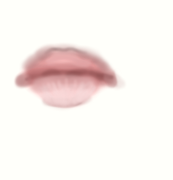 Lip painting practice