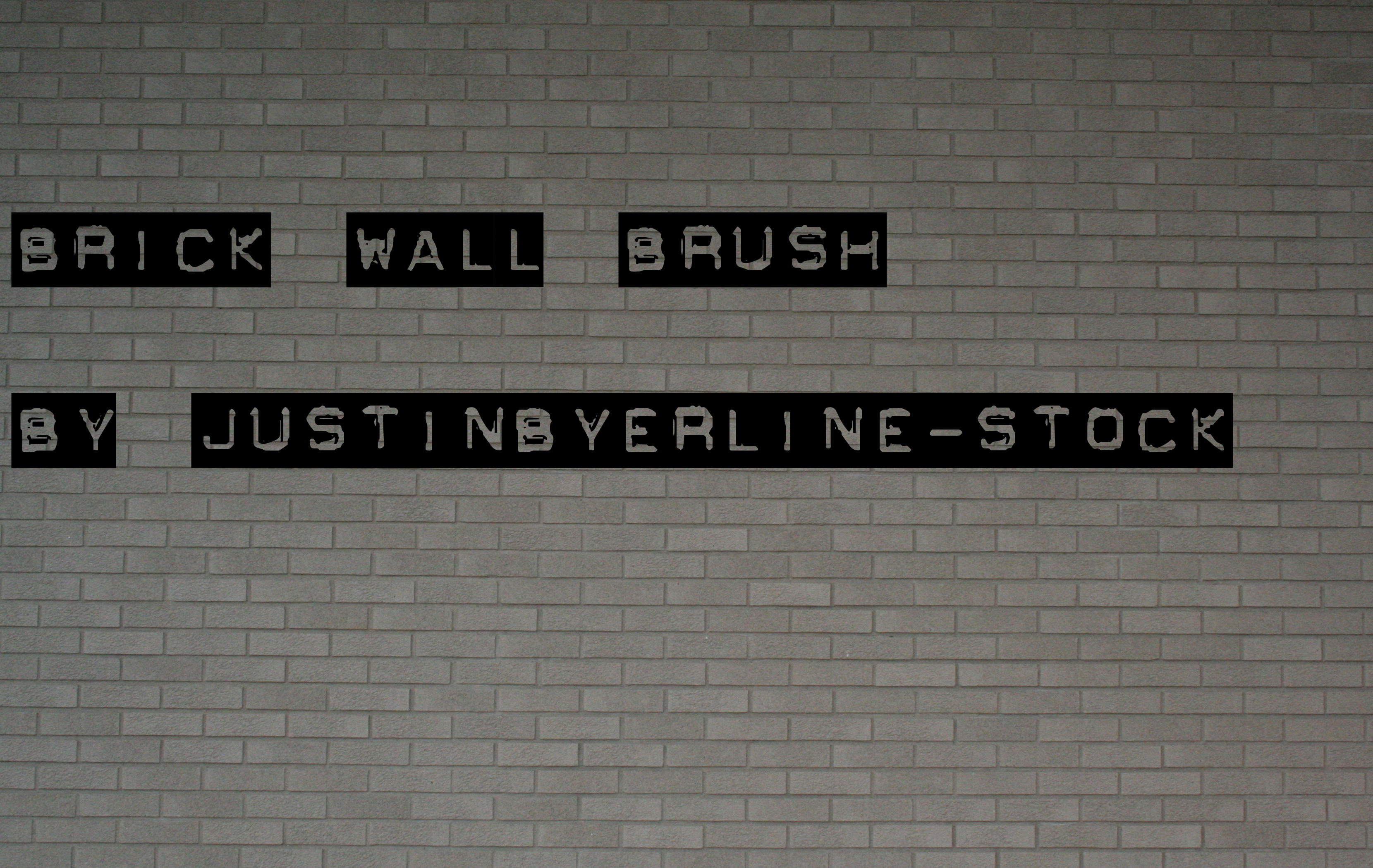 Brickwall Brush by JustinByerline-Stock