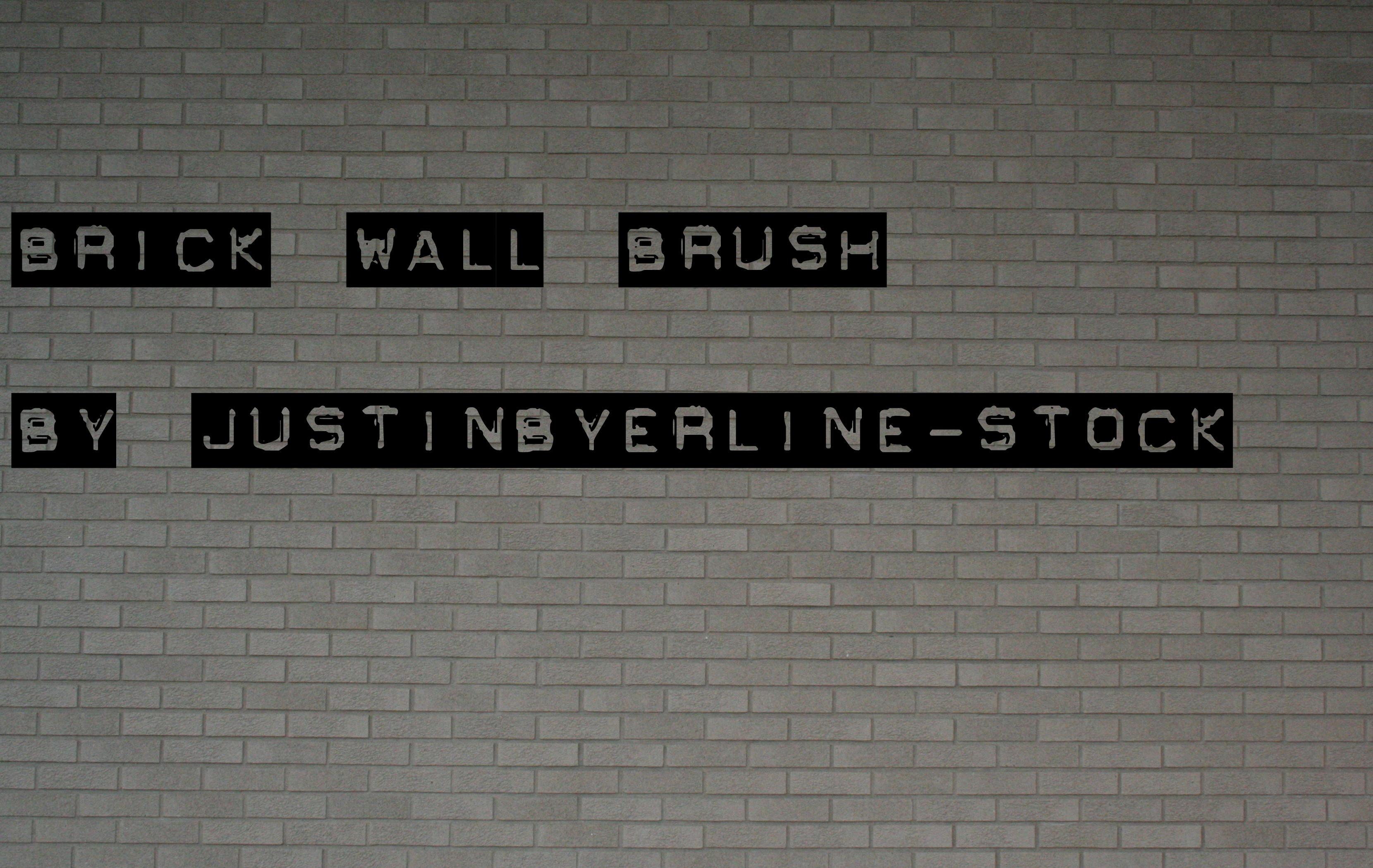 Brickwall Brush by JustinByerline-Stock