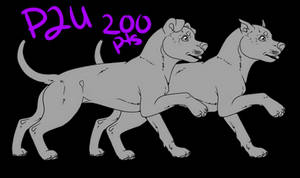 Pit Bull Lineart P2U 200 Points