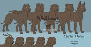 Pit Bull Lineart [NEW add ons 6/14]