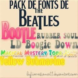 Pack de Fonts de The Beatles by BigTimeChance19