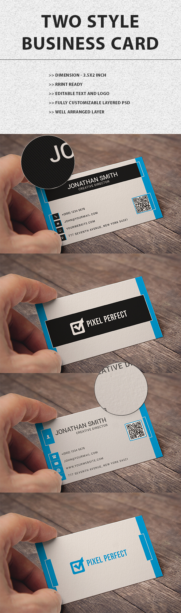 Free Psd Business card 2in1 by maruf1