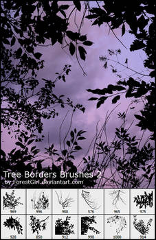 Tree Borders Brushes 2