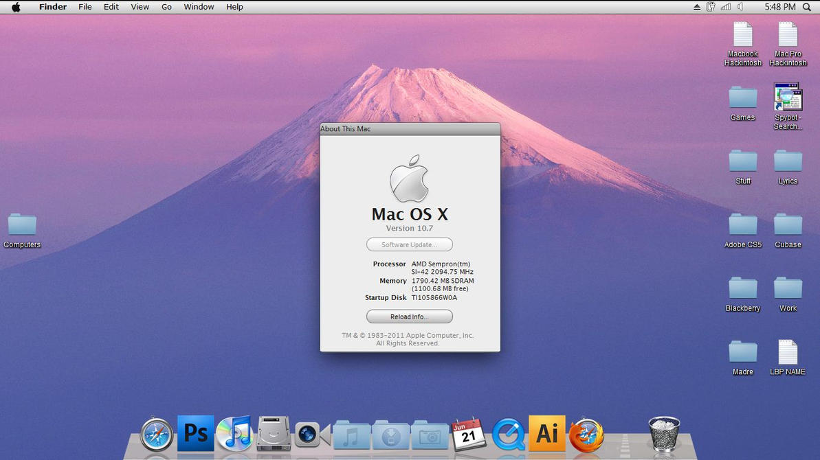 Mac OS X Lion Skin for Windows 7 Review