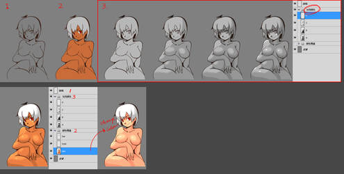 Skin Texture Tips - Greyscale coloring by EelGod