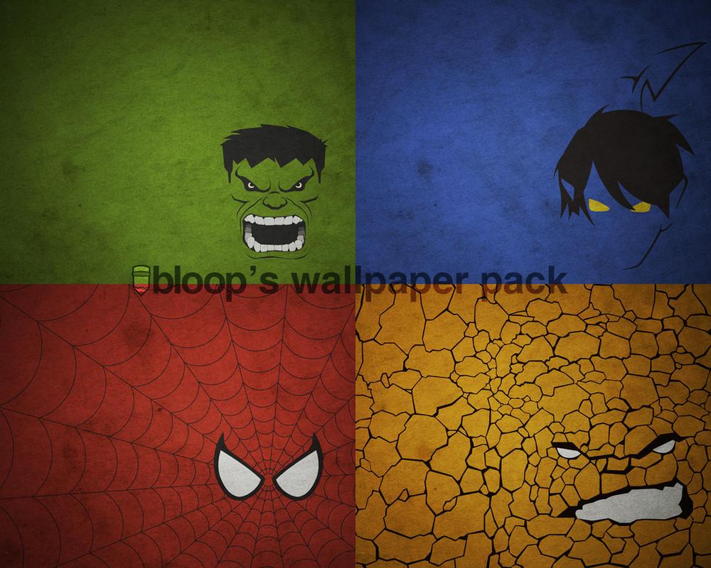 Bloops Superhero Wallpaper by blo0p