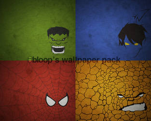 Bloops Superhero Wallpaper by blo0p