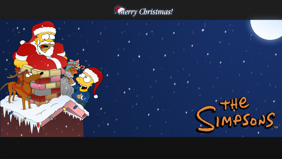 Wallpaper The Simpsons Xmas By Lmd1984 On Deviantart