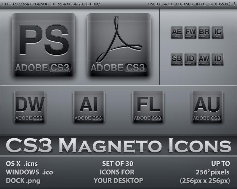 CS3 Magneto Icons