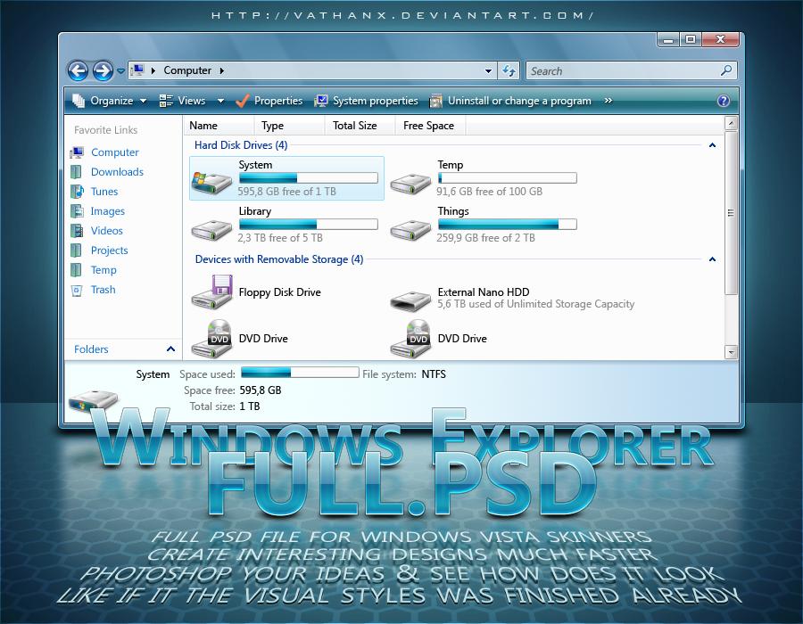 Windows Explorer: FULL.PSD by Vathanx