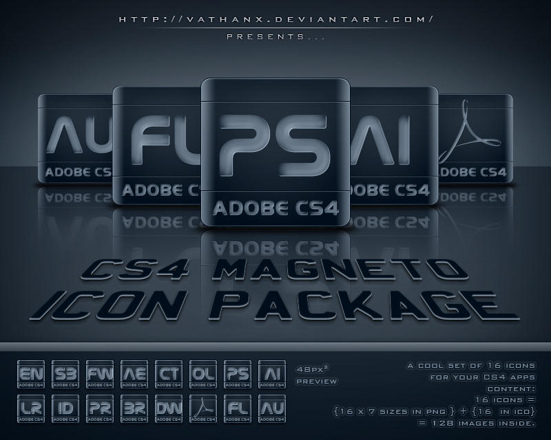 CS4 Magneto Icon Package by Vathanx