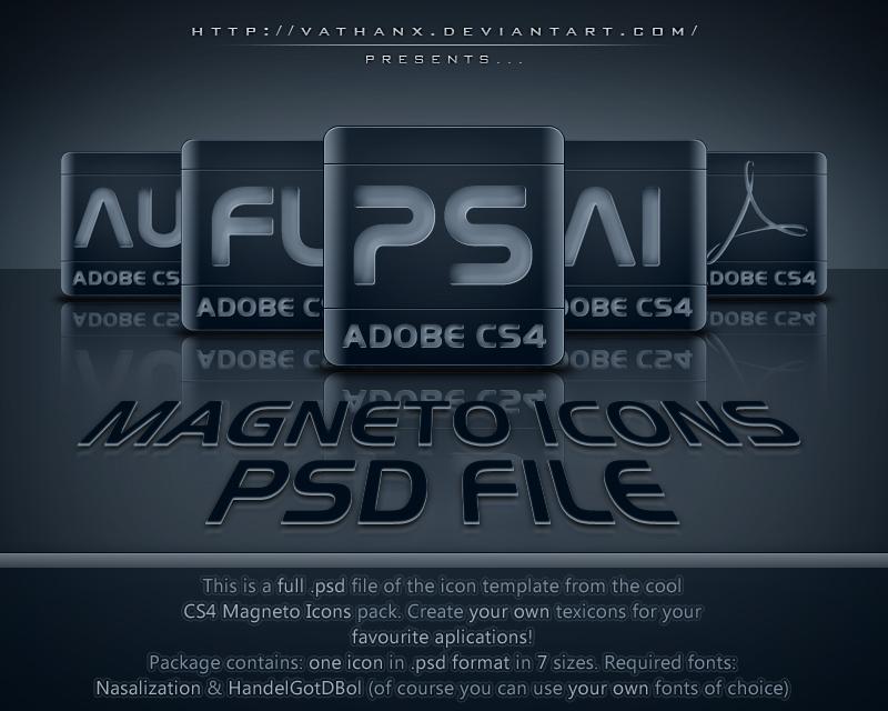 CS4 Magneto Icons PSD