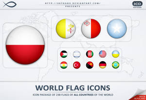 World Flag Icons ICO