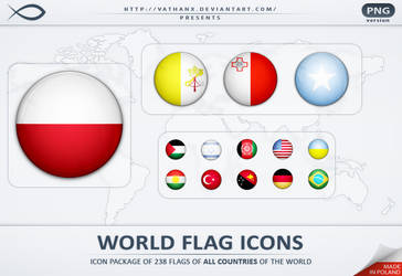 World Flag Icons PNG