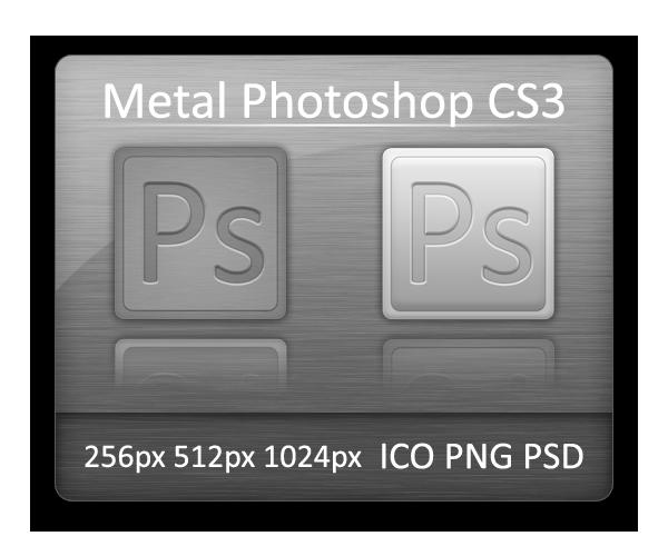 Metal Photoshop CS3 by Vathanx - Ücretsiz Photoshop Simgeleri