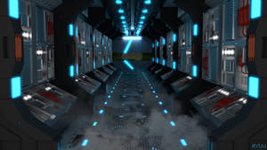Sci Fi Hallway Scene - Download by RyuuExe