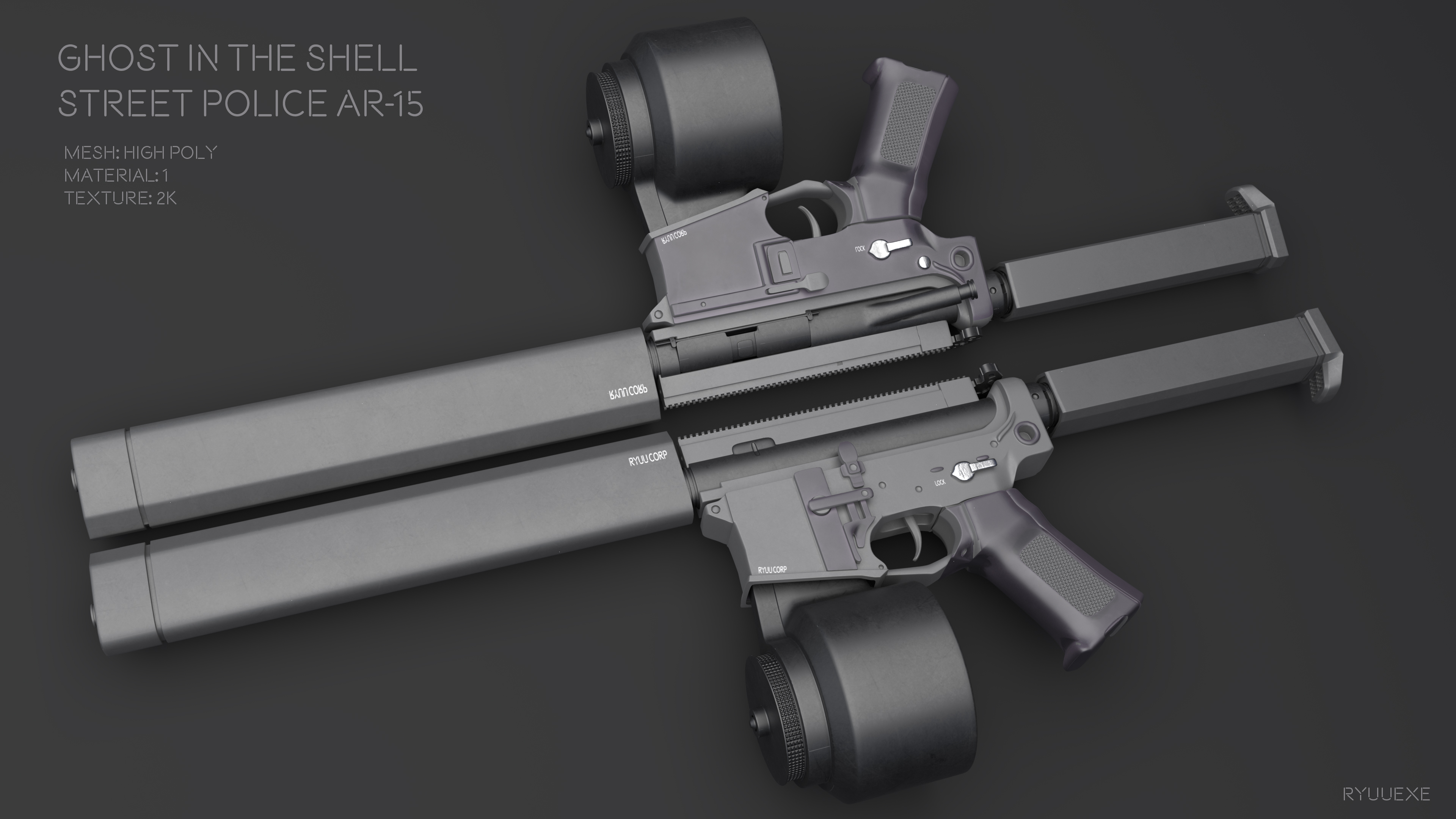 Ghost In The Shell - Street Police Ar15 - Download by RyuuExe