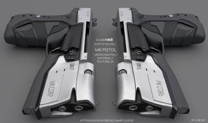 Ghost In The Shell - MK Pistol - Download by RyuuExe
