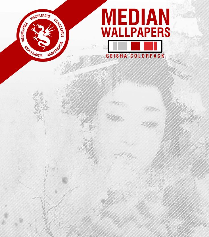 Median Geisha Wallpaper