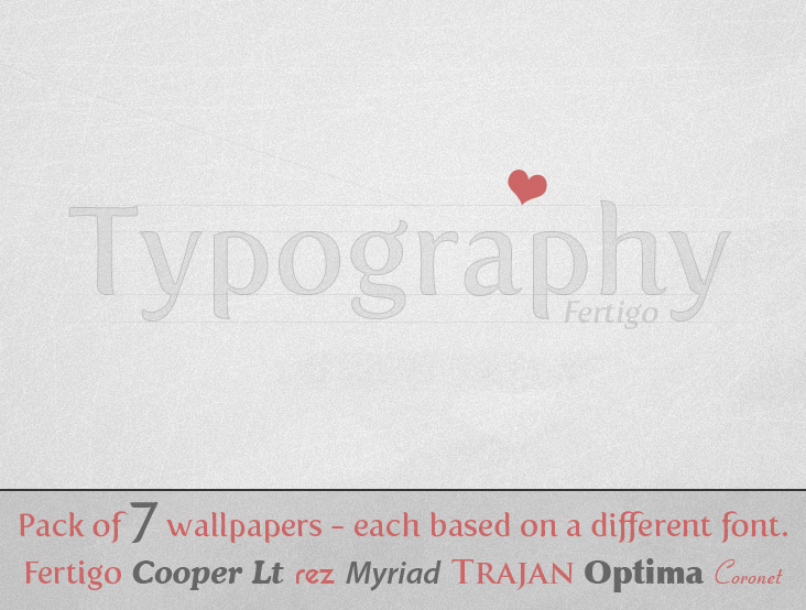 Typography wallpaper pack