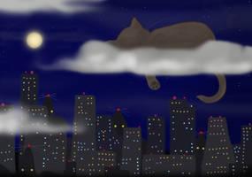 City kitty takes a nap