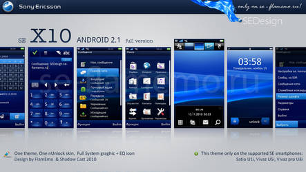 SE X10 Android 2.1