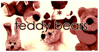 Teddy Bears brushes by dawn-at-the-lake