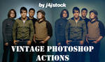 photoshop action: vintage