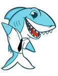 Web mascot of shark. by carlosvillodre97