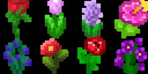 Flowers growing (animated)
