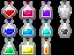 Rainbow Potions (GIF) by Brysiaa