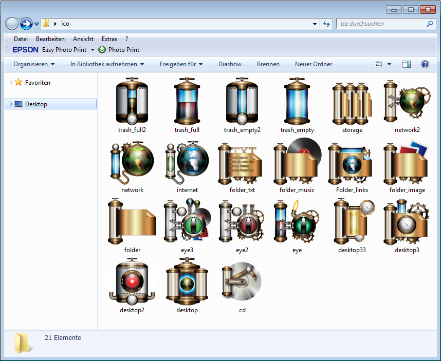 First Set of Steampower Icons for Windows by IllustratorG