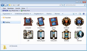 Steampunk Iconset victorian PC