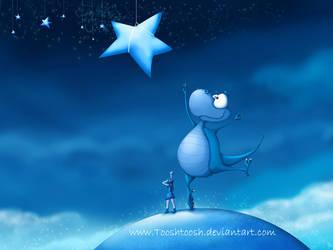 Reach For A Star Dragon WP by Tooshtoosh