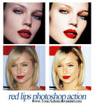 Red Lips Photoshop Action