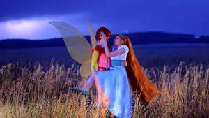 Thumbelina and Cornelius [gif] by Ryoko-demon