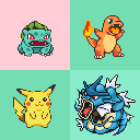 Pokemon Yellow Sprite Recolors by MarissaBlackwing