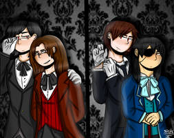 Black Butler AU by Just4drawing
